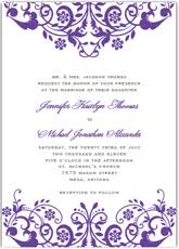 purple wedding invitations free printable purple wedding invitation templates