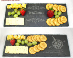 personalized cheese tray slate cheese board etsy