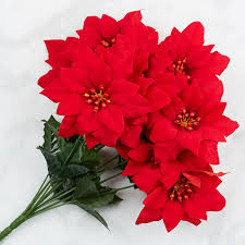 artificial poinsettia bush florals and