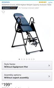 ironman gravity 4000 inversion table ironman gravity 4000 highest weight capacity inversion table beauty