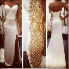 white wedding dress with gold beading aliexpress com buy high neck lace beaded chiffon high
