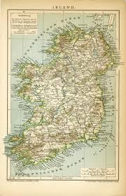 home decor ireland vintage map of ireland dated 1899 vintage decor vintage art