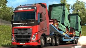 volvo freight trucks euro truck simulator 2 the new volvo fh picking up a trailer