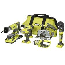 ryobi 18 volt one lithium ion ultimate combo kit 6 tool p884