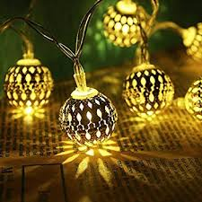 led fairy string lights amazon com moroccan ball decorative solar 20 led fairy string
