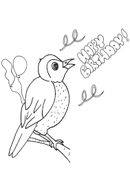coloring pages of happy birthday beautiful happy birthday card