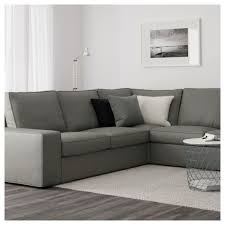 Kivik Sofa And Chaise Lounge Review by Kivik Corner Sofa 2 2 With Chaise Longue Borred Grey Green Ikea