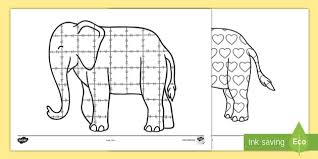 Patchwork Elephant Book - elmer activities and primary resources story page 1