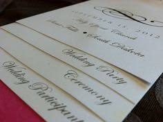 do it yourself wedding programs how to make a tiered wedding program with ribbon handle make