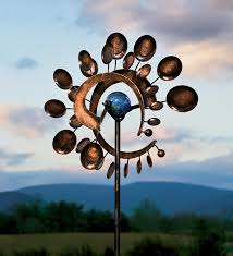 illuminarie dual motion pinwheel solar light pinwheel wind