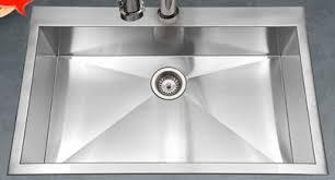 Single Bowl Kitchen Sink Top Mount Houzer Bellus 33 X 22 Zero Radius Topmount Large Single Bowl