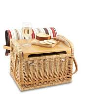 Wine Picnic Basket Picnic Time Kabrio Basket With Wine And Cheese Service For Two