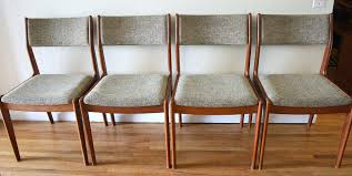 Mid Century Modern Dining Chairs Vintage Mid Century Modern Dining Chairs For Sale 6 Teak Dining Chairs