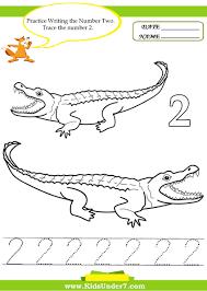 Abc Practice Worksheets For Kindergarten Kids Under 7 Number Tracing 1 10 U2013 Worksheet Part 2