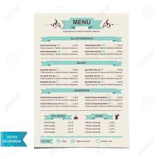 100 template for breakfast menu royalty menu template stock