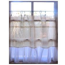 Lace Cafe Curtains Kitchen by 56 Best Linen Lace Curtains Images On Pinterest Cafe Curtains