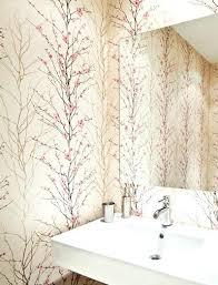 wallpaper designs for bathrooms modern floral wallpaper cherry blossom modern powder room floral