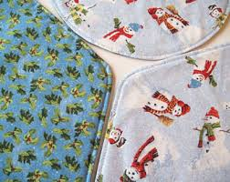Placemats For Round Table Snowman Placemats Etsy