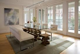 Modern Glass Kitchen Tables by Creating Extraordinary Atmosphere In Dining Room Using Kitchen