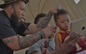 whst id the swaggy p haircut photo nick young s son gets swaggy p haircut for second birthday