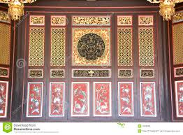 chinese motif wooden partition stock photo image 1643990