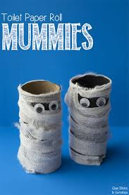 Paper Roll Crafts For Kids - toilet paper roll mummy craft for halloween