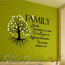 Family Room Decals Family Quotes The Simple Stencil - Family room walls