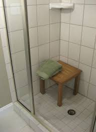 Shower Designs With Bench Chic Teak Corner Shower Bench U2014 The Homy Design