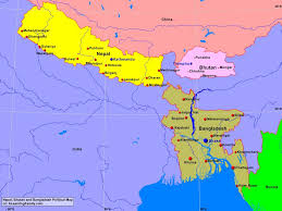 China Political Map by Bangladesh Bhutan And Nepal Political Map A Learning Family