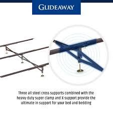 steel bed frame center support 3 rails 3 adjustable legs gs 3xs