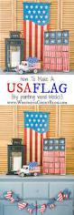 easy vintage americana usa flag painted wood blocks worthing court