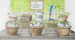 mr mcgregor s garden rabbit rabbit themed easter table concept and menu in literature