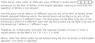 how many 4 letter code can be formed using the first 10 letters of