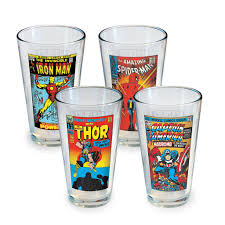 marvel characters pint glasses cheap christmas gifts for men