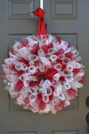 geo mesh wreath burlap chevron initial deco mesh paper mesh geo mesh wreath