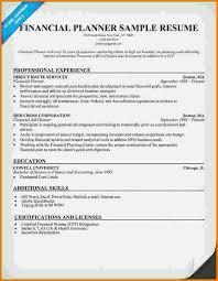 Financial Advisor Resume Samples 7 Financial Advisor Sample Resume Financial Statement Form