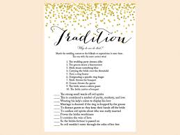 bridal shower groom questions gold confetti bridal shower game set magical printable