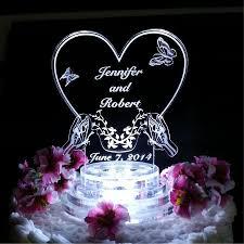 butterfly wedding cake topper light up cake top led cake