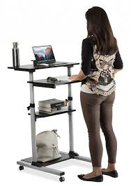 Stand Up Desk Exercises Standing Height Adjustable Desktop Stand Up Work Space With