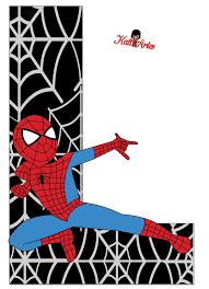 free printable spiderman alphabet 013 png 793 1096 harfler