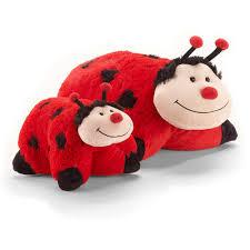 light up ladybug pillow pet as seen on tv pillow pet wee lady bug walmart com