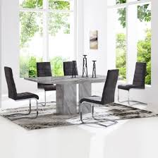 marble dining room set jupiter marble dining table in white and 6 metz