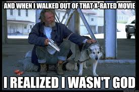 Xrated Memes - philosophical homeless man memes quickmeme