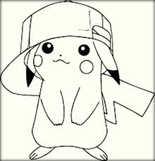 pikachu hat coloring pages coloring