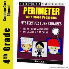 fun area and perimeter coloring worksheets printables u0026 worksheets