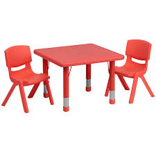 kids plastic table and chairs amazon com flash furniture 24 square green plastic height