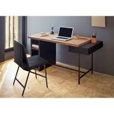 bureau bois recyclé bureau wright bois recyclé et piètement en métal noir wright