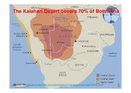 africa map kalahari desert botswana