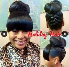 natural hair bun styles with bang bun and bang pinteres