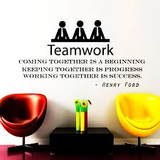 wall decals teamwork quote decal vinyl sticker henry ford zoom